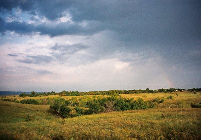 Степь перед грозой, Белокалитвенский район Ростовской области