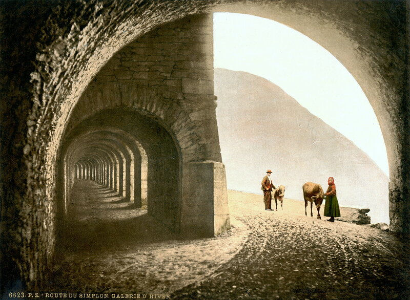 25. Перевал Симплон, Зимний туннель