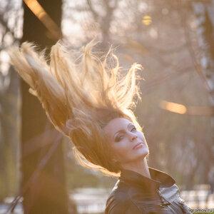 Огонь в волосах (блондинка, огонь)