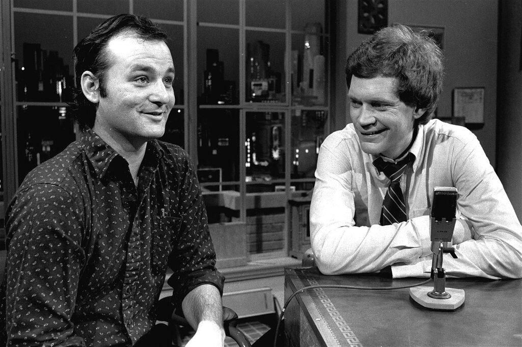 Bill Murray and David Letterman, 1982