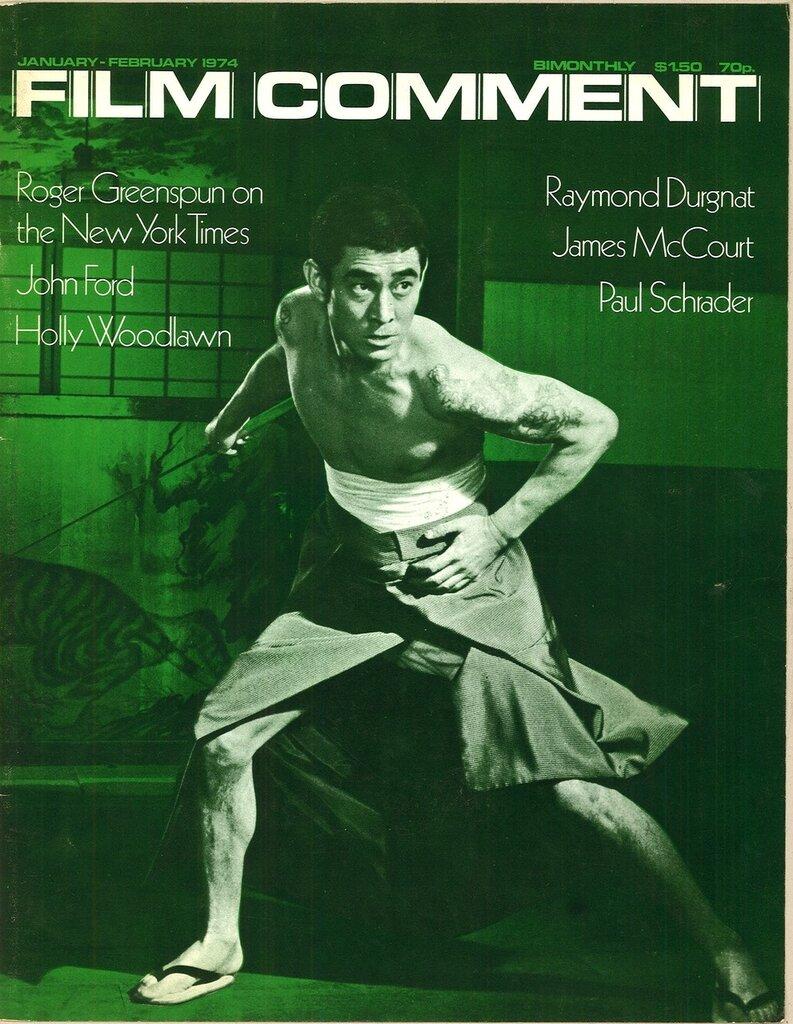 """1974. """"Ken Takakura, Japan's number one Yakuza star. Photo: Paul Schrader."""