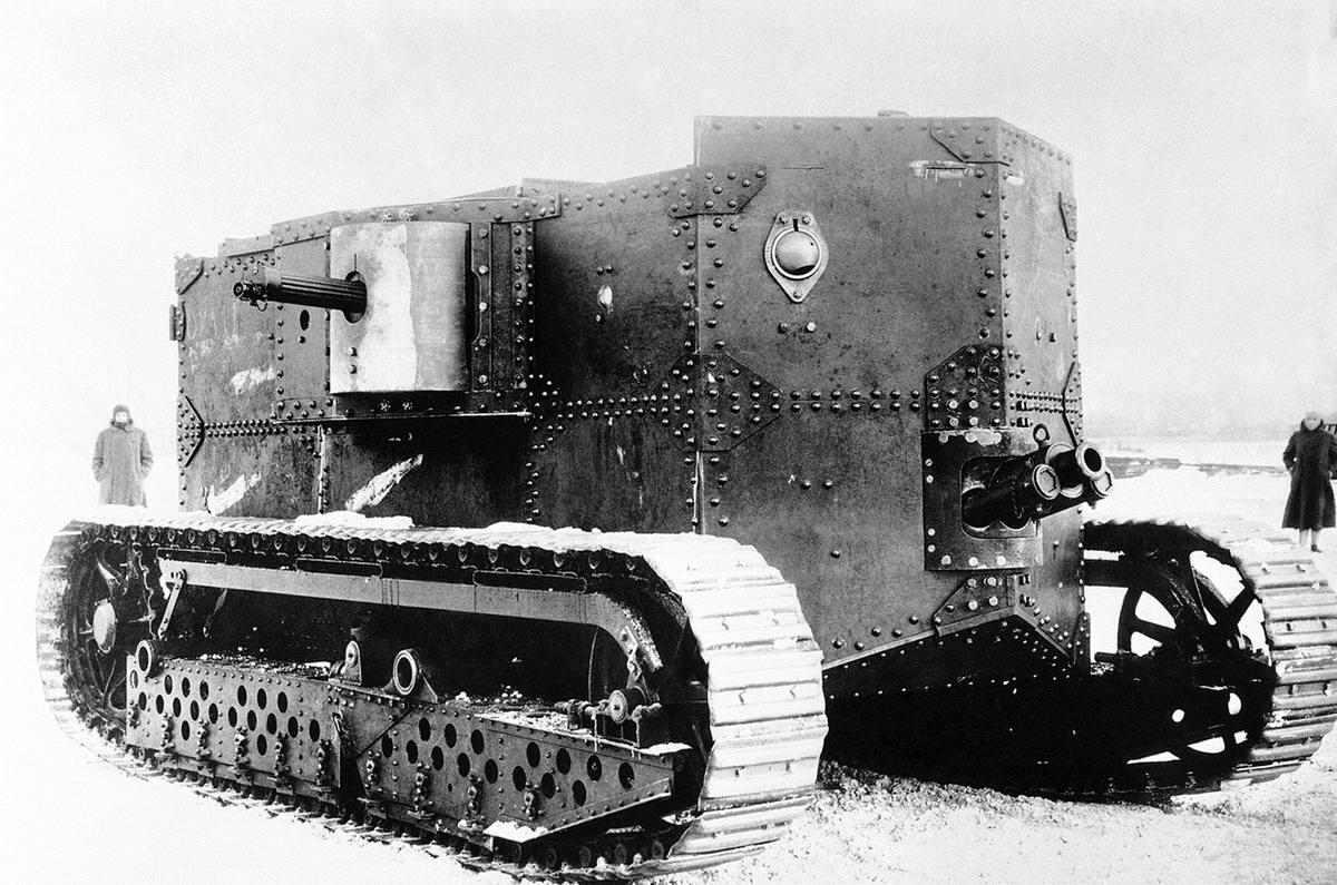 Первый американский танк Holt (1917 год) (20)