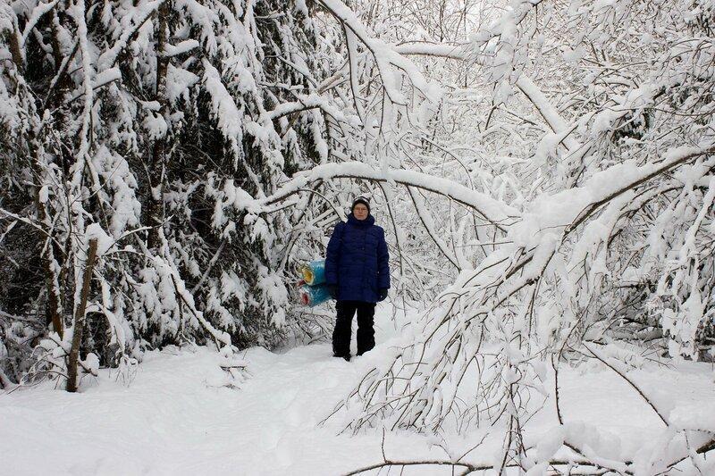 пеший поход с палаткой зимой беременной на восьмом месяце