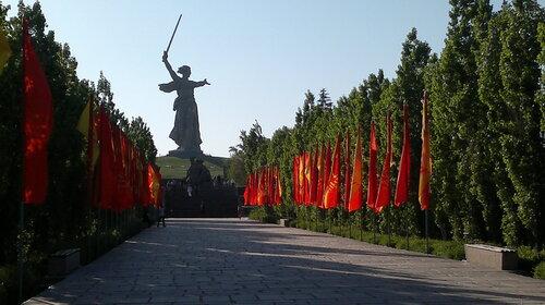 Мамаев Курган в канун 9 мая.