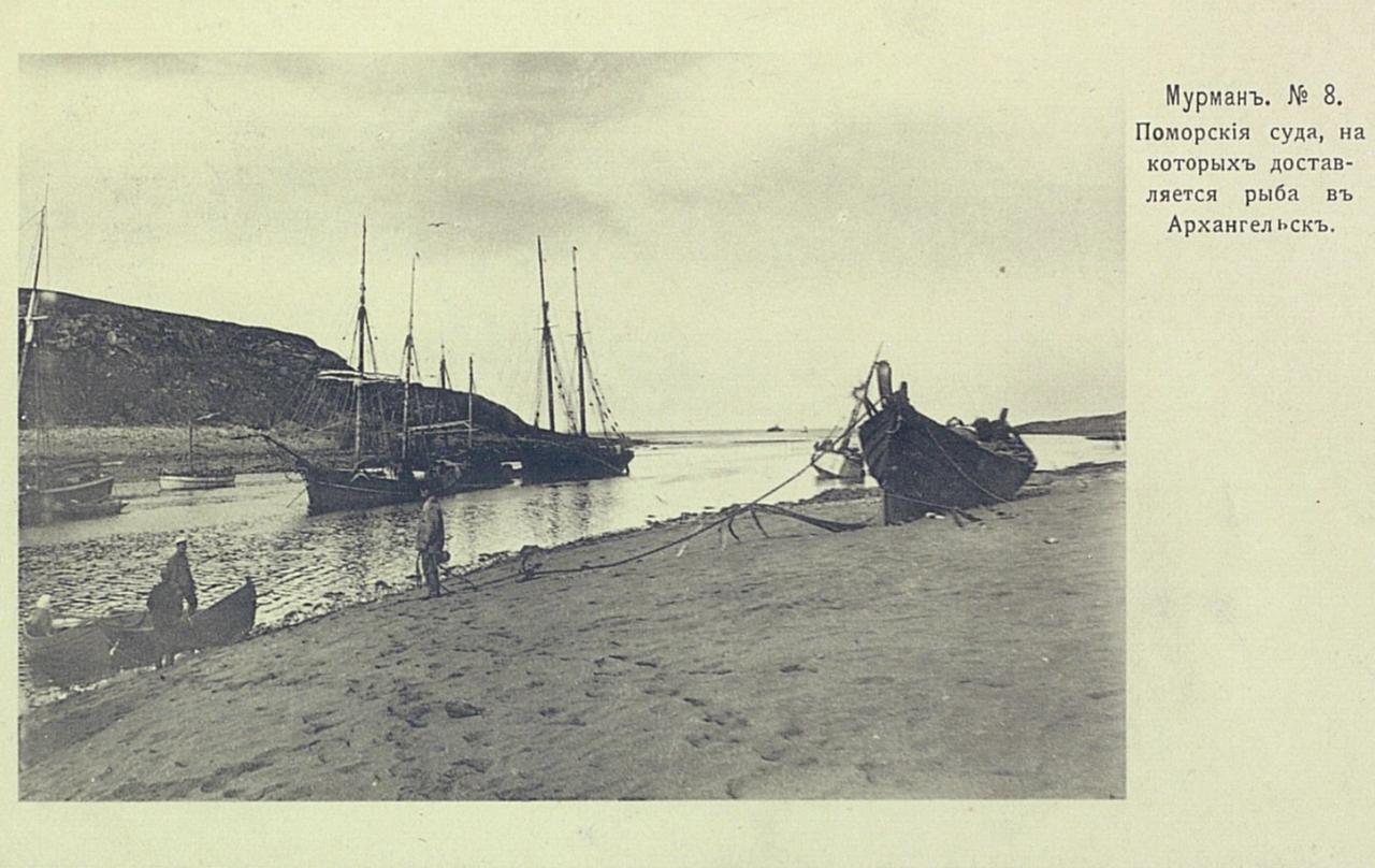 Поморские суда, на которых доставляется рыба в Архангельск