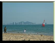 Китай о. Хайнань. Бухта Саньявань.
