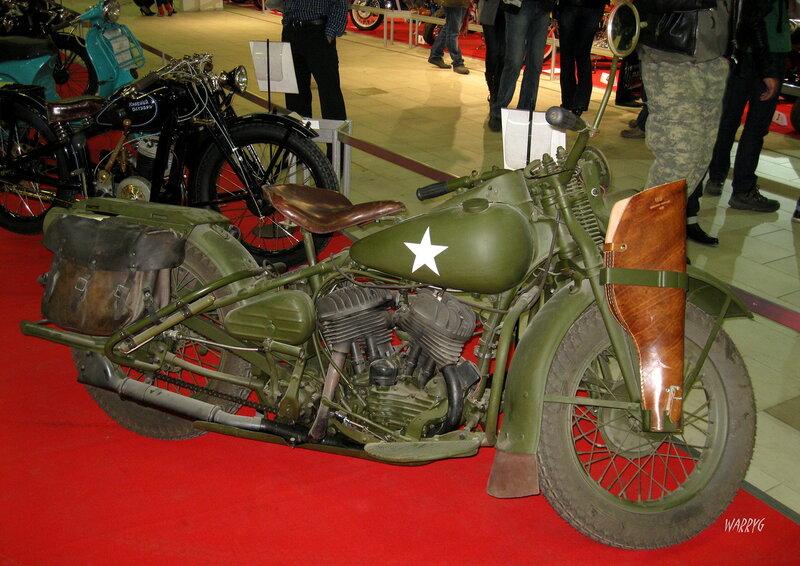Американский мотоцикл Harley Davidson WL-38 1939 г.