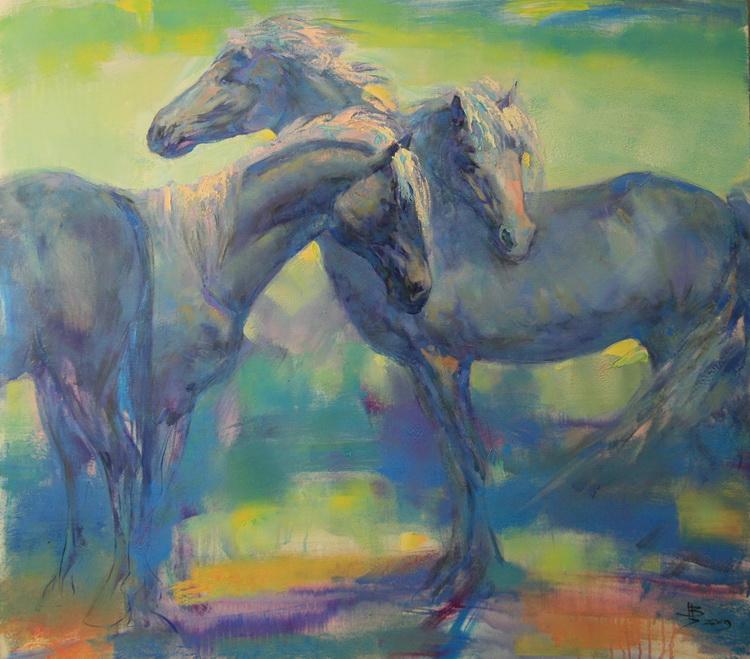 Разгулялись что то кони... Художник Цукахин Валерий (Valery Tsukakhin)