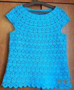 Вяжем крючком платье узором лилия востока крючком