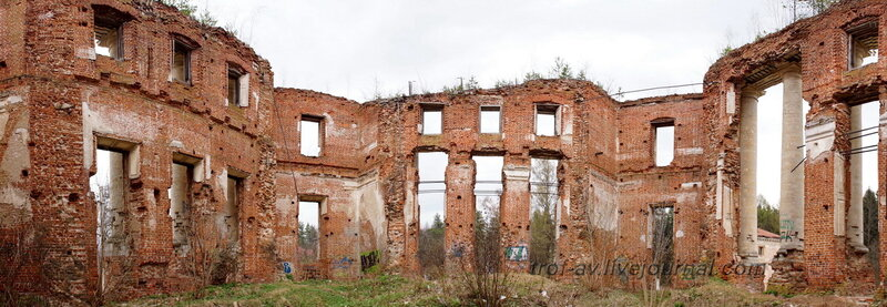 Главный дом усадьбы. Усадьба Петровское-Княжищего Демидовых-Мещерских