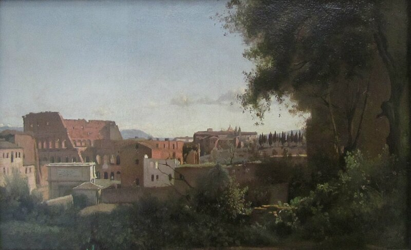 К.Коро. Вид на Колизей из садов Фарнезе