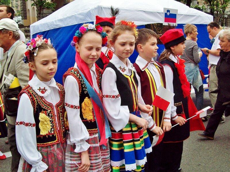 Польский фольклорный коллектив на Дне Европы в Киеве