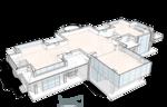 План второго этажа, жилой дом, особняк