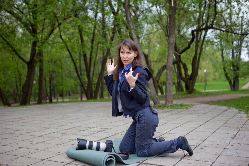 Алия Валеева за работой