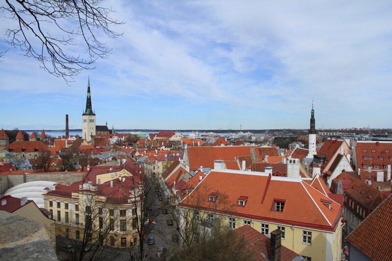Эстония, Таллинн, вид на Старый Город