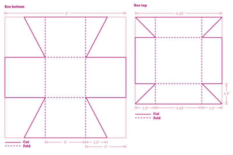 Квадратная коробочка из картона своими руками схема