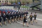 Девушки МВД на параде Победы в Хабаровске