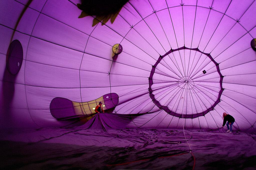 Bruno Furnari inside hot air balloon