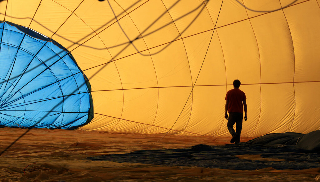 inside hot air balloon by Chris Goldberg