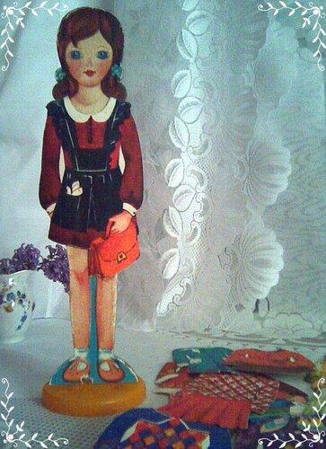 Бумажная кукла Наташа из 70-х