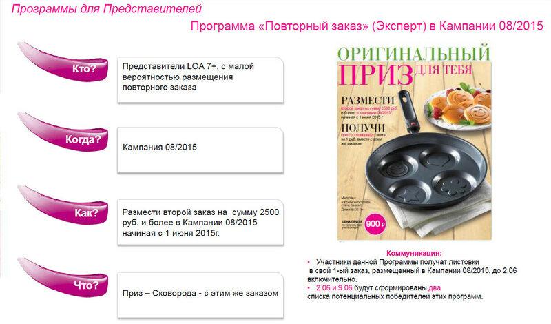 Программа Повторный заказ Эксперт в кампании 08 2015