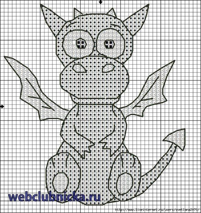 Схема вышивки дракона бесплатно фото 330