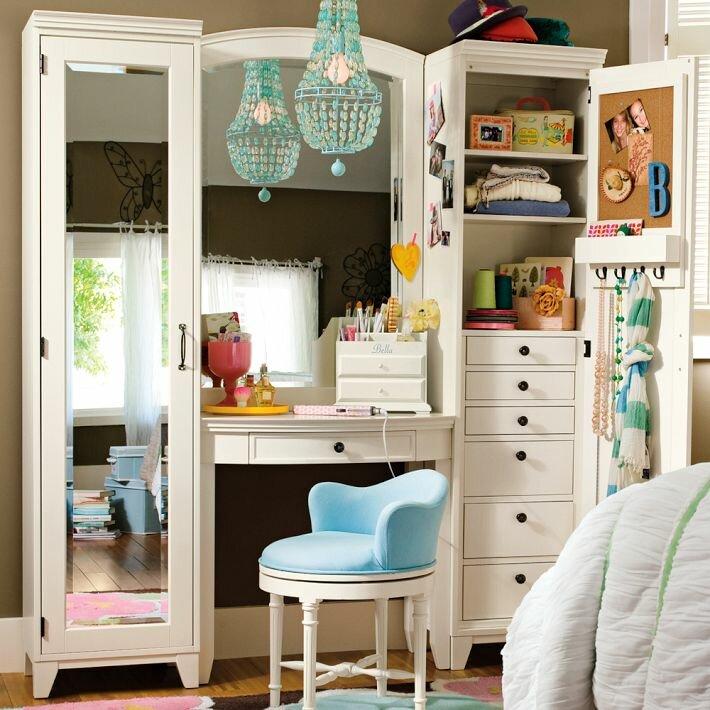 Комнаты для девочек от Pottery Barn Teen Дизайн