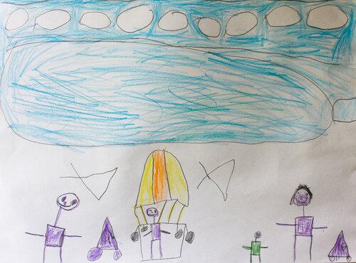 Рисунки карандашом. Автор: Ваня Апиянц (5 лет)
