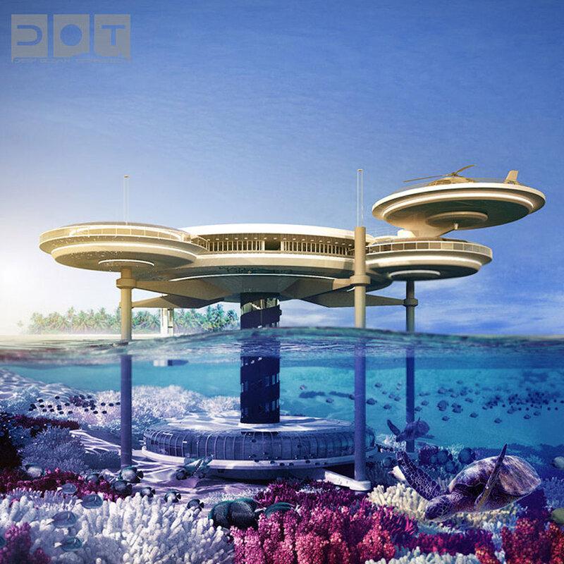Подводный отель в Дубае