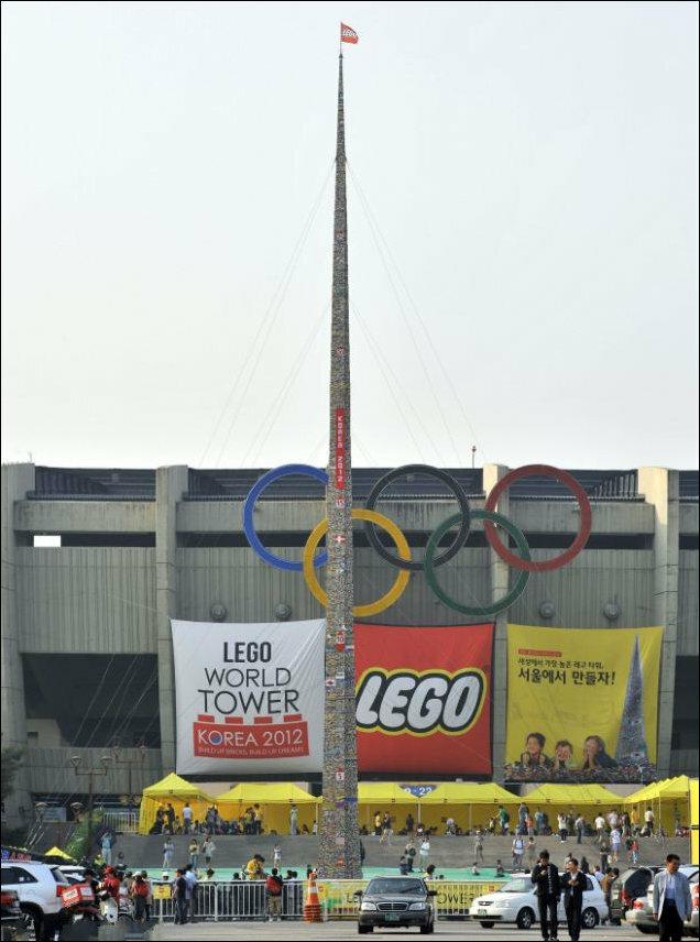 Самая большая башня из LEGO