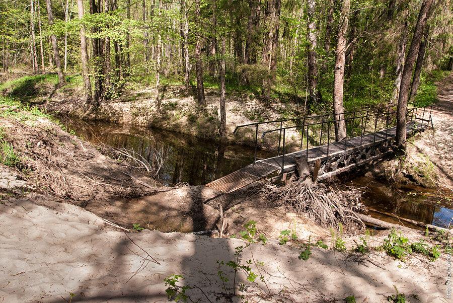 мост у Серафима Саровского после разлива реки