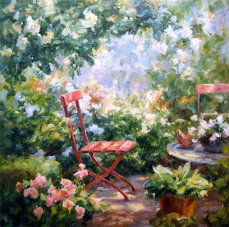 Alphonse D Heye-荷蘭當代印象派畫家-筆下的陽光與花香。。。 - milk  - ☆ Milk ☆ 平平。淡淡。也是真。