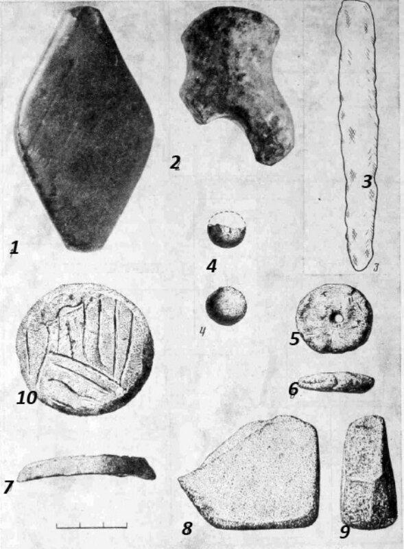 Предметы найденные в селище бронзового века под Белгородом