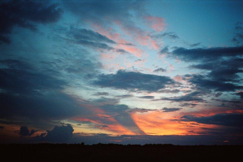 Закат в степи, Белокалитвенский район Ростовской области