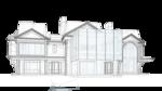 Перспективный вид. Нависание балконов второго этажа.  жилой дом, с классическими элементами убранства по фасадам. Фасад, Жилой двухэтажный жилой дом 29х12. Особняк.