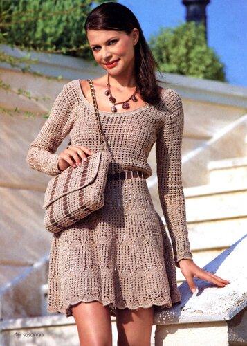 Стильное платье с сумочкой в комплекте   (Susanna 6-7.12)