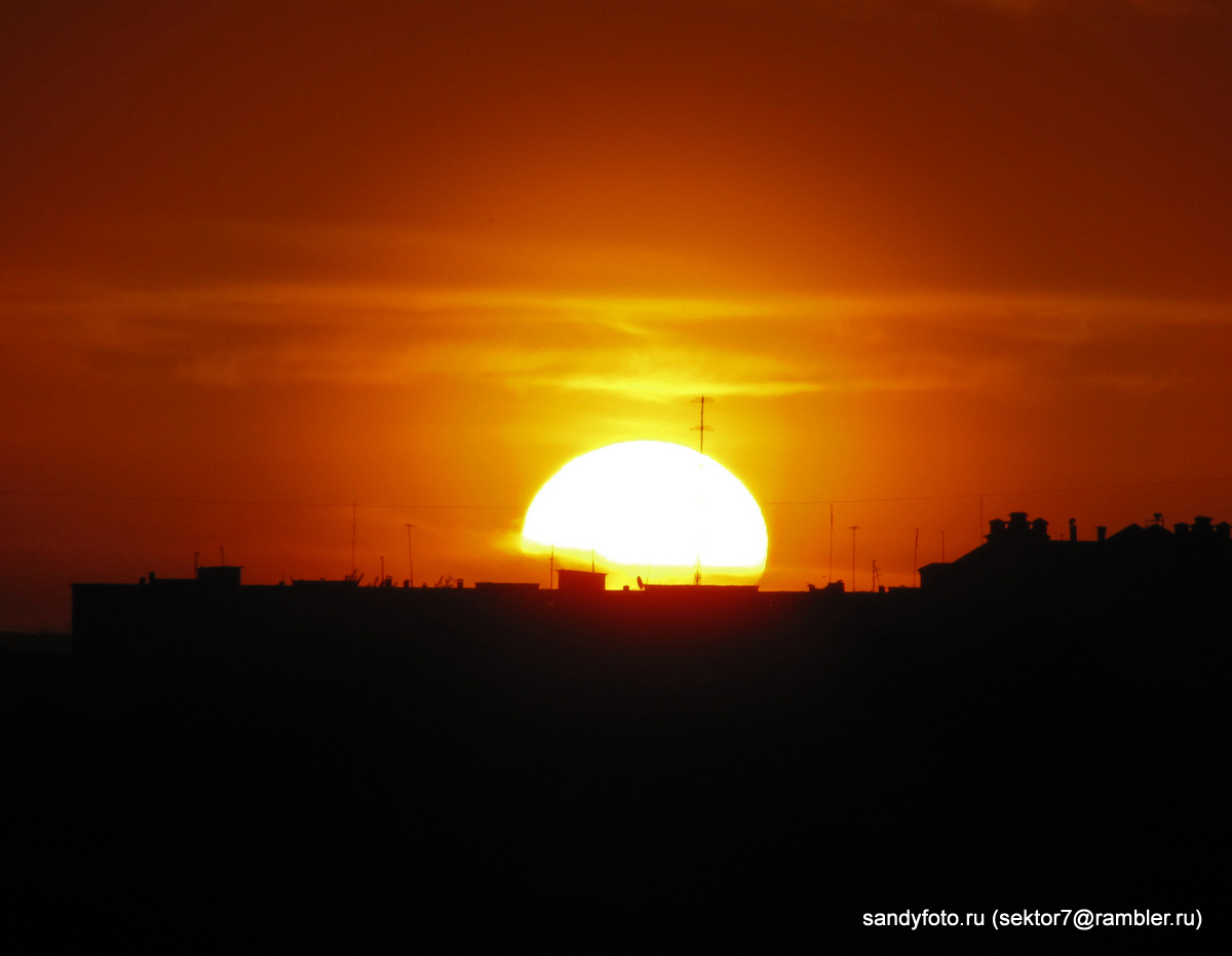 Закатная фотосессия с горы Мясокомбината