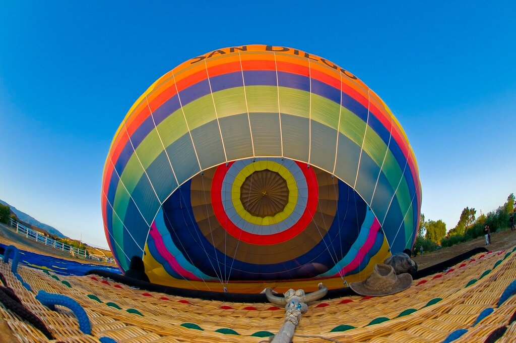 inside hot air balloon by Ty Sawyer