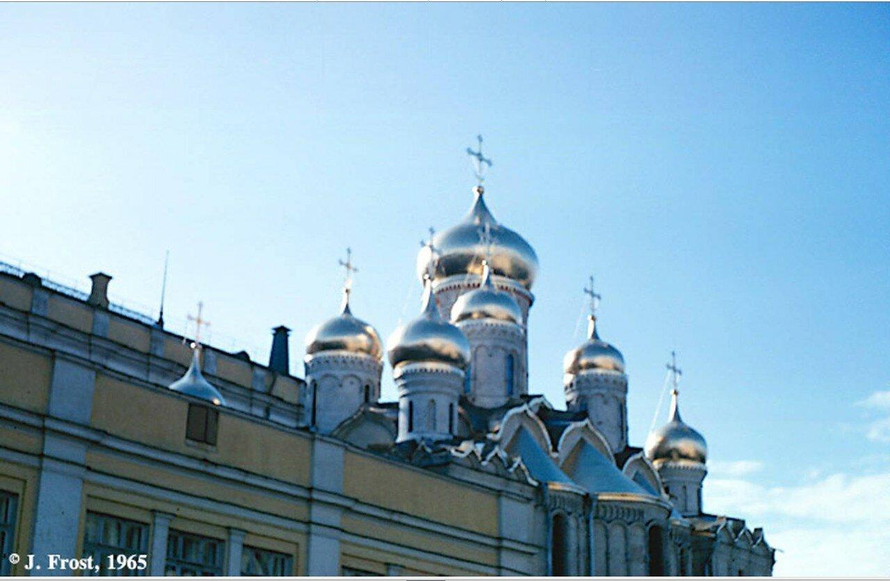 1965. Москва. Купола собора Благовещения в Кремле