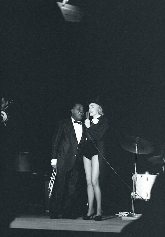1962. Марлен Дитрих и Луи Армстронг. Лас Вегас