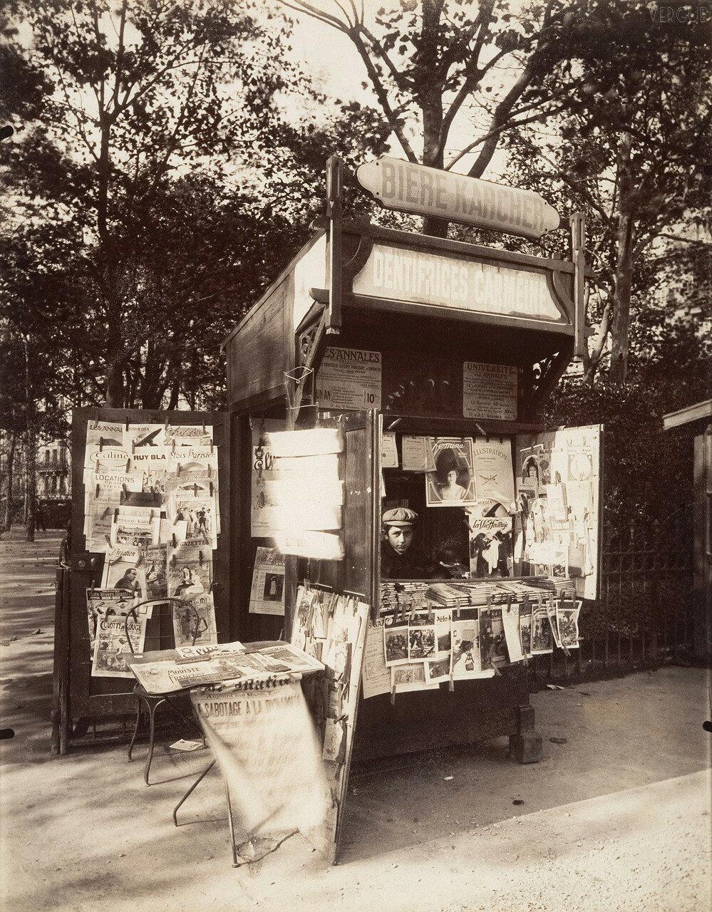 1910. Газетный киоск, Рю де Севр. 18 октября
