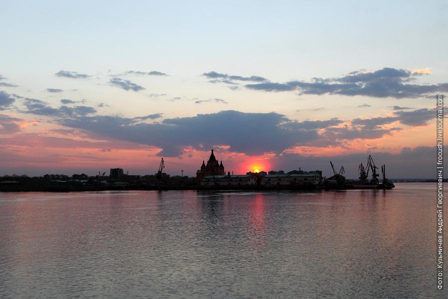Нижегородская «Стрелка» На закате