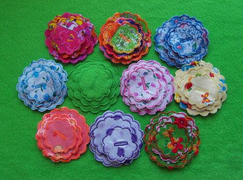 Игровой развивающий коврик ~ Цветочные фантазии... цветы из ткани
