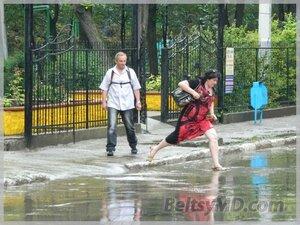 Ливневые дожди в Бельцах — бедствие