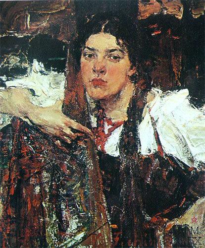 Николай Фешин. Александра в сарафане.jpg