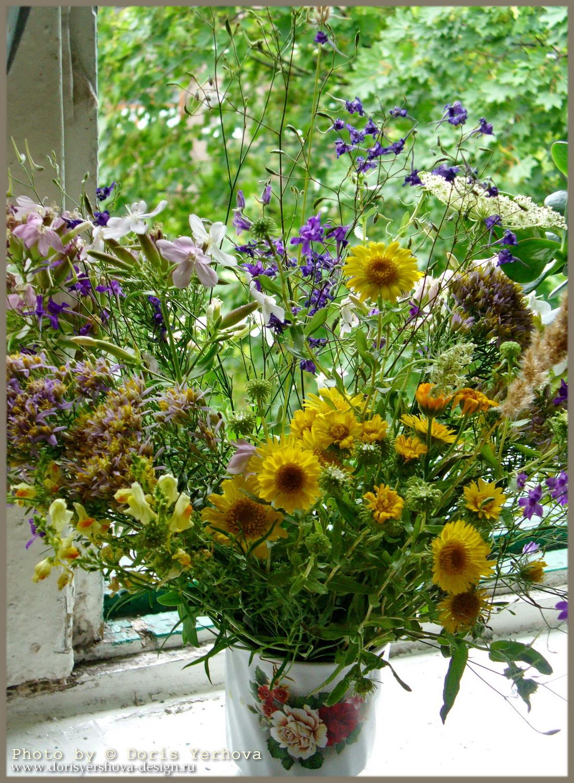 травы, цветы, июль, букет, полевые цветы в кружке,  Фото  Дорис Ершовой