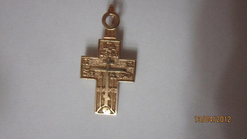 липованский мужской нательный крестик