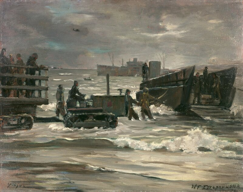 William F. Draper - Aleutian Landing (Beaching a Landing Boat) (1942)