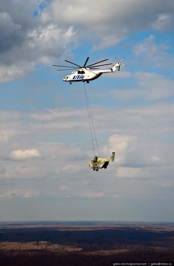 Впервые в мировой практике была проведена транспортировка вертолета на внешней подвеске на столь дальнее расстояние - 3000 километров!