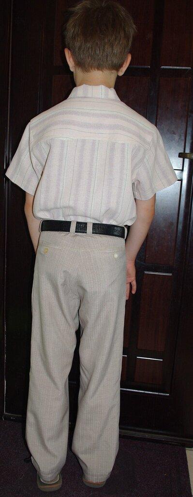 Выкройка классический брюки на мальчика